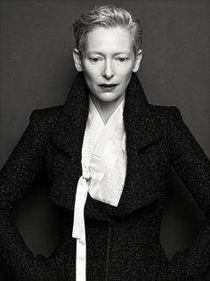 deshistoiresdemode:  Tilda Swinton by Hong Jang Hyun _ Vogue Korea, August 2015.