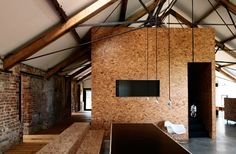 Loft. Brick and OSB