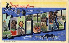 Vintage Kentucky Postcard