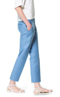 CROPPED TROUSERS - Woman - New this week - ZARA Canada