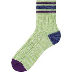 MEN LINE CABLE ANKLE SOCKS Color: 52 GREEN Uniqlo Men, Ankle Socks, Cable, Green, Color, Fashion, Cabo, Moda, Socks