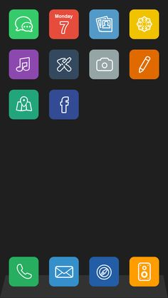 Flat IOS 7 Concept