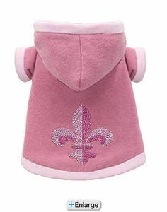 Super Soft Pink Fleur De Lis Hoodie by Hip Doggie (s)*
