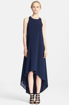 Alice + Olivia Twisted Back High/Low Dress | Nordstrom