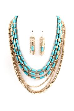 Erin Necklace in Turquoise