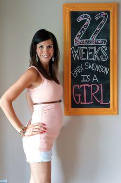 chalkboard pregnancy tracker 22 weeks Pregnancy Chalkboard Tracker,  Pregnancy Tracker, Future Baby