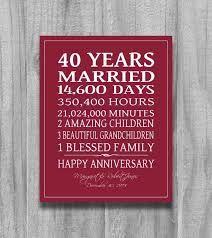 Happy 40th Ruby Wedding Anniversary Gift Keyring Keepsake 40 Years Boxed