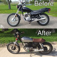 This is my first project. Honda cb250 Nighthawk. Lots of fun. Next, a 750 cafe racer!