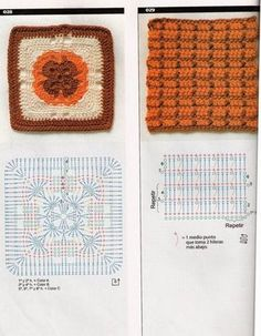 Picasa Web Albums Be Square Crochet Chart, Crochet Motif, Crochet Squares, Crochet Granny, Granny Squares, Granny Square Tutorial, African Flowers, Plaid, Groomsmen