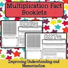 These multiplication fact booklets are sure to be a hit with your students and their parents!  These booklets can be used to help students understand the concept of multiplication, as well as memorize their multiplication facts.  They can be used as morning work, bell work, extra activities for early finishers, or even homework.