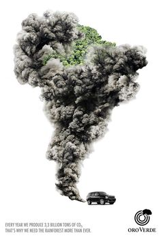 """Smoke"", print campaign against CO2 emission for a rainforest foundation 