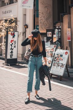 15 Ideas skirt jean street style for 2019 Spring Outfits Japan, Japan Outfits, Casual Outfits, Japan Outfit Winter, Japan Ootd, Uni Outfits, Travel Outfits, Chill Outfits, Basic Outfits