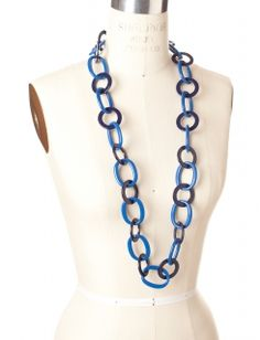 Linked Lucite Necklace