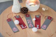Christmas Gift Tags, Creative, Advent Calendar, Passion, Holiday Decor, Paper, Numbers, Christmas Presents, Grey