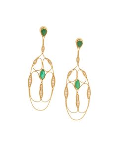 #globetrotter Fluid Diamond and Emerald Cross Earrings £7527.00 Fernando Jorge at COUTURELAB
