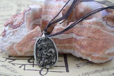 Light Green Dragon Jade Chinese Pendant Necklace by soyon on Etsy, $20.00