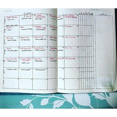 I tried creating a unique month, different from the normal grid layout. This has my Mondays at the top, then my Tuesdays, then my | bujo | bullet journal | bullet journaling | bujo junkies | bullet journal junkies | bujo addict | planner | planning |