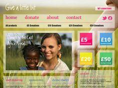Moonfruit Template - Give #website #design