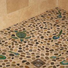 cute for a kids bathroom Shower Install - eclectic - bathroom tile - orlando - Mangrove Bay Design & Art Tile Bamboo Bathroom, Bathroom Kids, Basement Bathroom, Master Bathrooms, Remodel Bathroom, Dream Bathrooms, Eclectic Tile, Eclectic Bathroom, Shower Floor Tile
