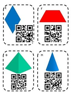 "Freebie! A fun ""name that shape"" activity with QR codes."