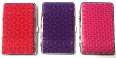 VELVET COLOURFUL PATTERN KING SIZE 100's QUALITY CIGARETTE CASE with GIFT POUCH