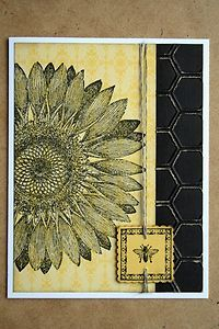 """Card Kit- """"Sunflower"""" Bee Postage and Honeycomb All Occasion w/ Stampin Up prods in Crafts, Scrapbooking & Paper Crafts, Paper Crafts, Card Making Scrapbook Paper Crafts, Paper Crafting, Scrapbooking, Sunflowers Background, Sunflower Cards, Bee Cards, Thanksgiving Cards, Get Well Cards, Card Kit"""