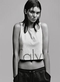 Kendall Jenner looking like a boss for Calvin Klein Jeans.
