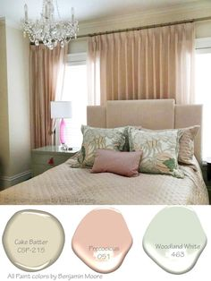 5 Soothing color palettes inspired by real rooms. Paint colors for your use. paint colors Soothing Color Palettes- LiLu's Look of the Day - Lilu Interiors inspiration Bedroom Colour Palette, Bedroom Colors, Bedroom Decor, Interior Design Advice, Luxury Interior Design, Paint Colors For Home, House Colors, Paint Colours, Wall Colors