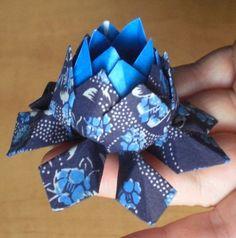 Chic Blue Origami Lotus B by =pyrogina on deviantART