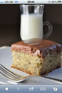 Banana Cake with Nutella Frosting! - yum!!