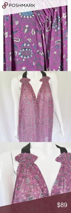 ISABEL MARANT FLORAL GROSGRAIN LINCOLN TUNIC Ultra femme blouse tunic.  Could be worn as 62d4baa7ce9