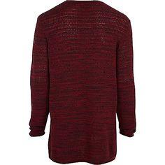 Dark red longer length jumper - jumpers / cardigans - sale - men