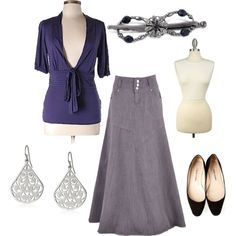 Purple and Gray by justlovely541 on Polyvore featuring Manolo Blahnik and Lilla Rose