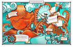 GUSTO ROBUSTO - tasteful printed series by David Sossella, via Behance
