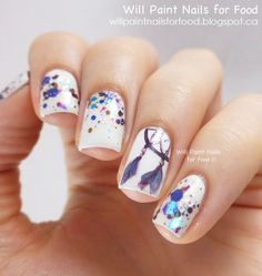 Will Paint Nails for Food: 31 Day Challenge: Day Seventeen, Glitter: Lumina Lacquer Dreamcatcher