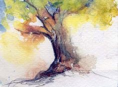 Tree Watercolor  by CheyAnneSexton