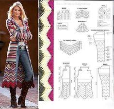 Uma linda inspiração para ficar linda e quentinha no inverno ⛄⛄⛄ Amei este casaco feito em crochê www.facebook.com/edimara.comim ...