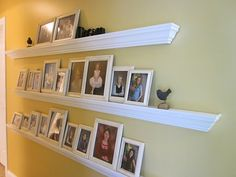Picture frame shelf out of crown moulding