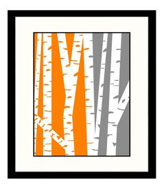 I love birch trees, and I love the colors this artist used.