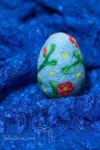 Easter, felting, handmade, Easter egg