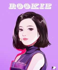 """Fan art of Park Soo-young (박수영) also known mononymously as Joy (조이) of Red Velvet (레드벨벳) from their """"Rookie"""" comeback."""