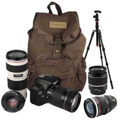 19094 photo-video Vintage Large Canvas DSLR SLR Camera Bag Backpack Rucksack For Canon Nikon Sony  BUY IT NOW ONLY  $41.99 Vintage Large Canvas DSLR SLR Camera Bag Backpack Rucksack For Canon Nikon Sony...