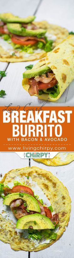 Low Carb Breakfast Burrito...NO CREAM OR BUTTER FOR THIS TO BE PALEO. ADD A LITTLE ALMOND MILK FOR THE CREPES.