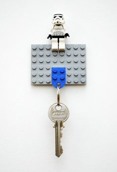 Lego keychain. Love this for just about anything that needs to be kept accounted for.