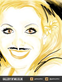 Portrait from 2011's Gallery of Mo. Maddelena Oseland donated £15.00 to Movember and had a portrait created by Adam Campion. www.galleryofmo.com