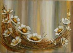 """Képtalálat a következőre: """"presentar pinturas de flores en acrilico de gabriela mensaque"""" Cotton Painting, Flower Painting Canvas, Oil Painting Flowers, Drip Painting, Abstract Flowers, Canvas Art, Indian Art Paintings, Arte Floral, Texture Art"""