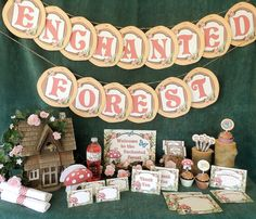 Enchanted Forest Woodland Printable Party Kit Instant Download