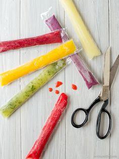 Rainbow Whole-Fruit Ice Pops