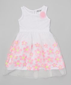 Look at this White & Pink Daisy Dress - Infant, Toddler & Girls on #zulily today!