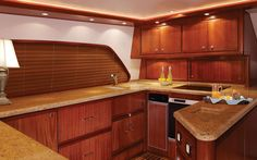It's Sunday-Let's Go Boating! The galley of a 70' Bertram Yacht